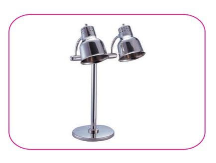 Đèn giữ nhiệt inox dùng điện, 2 đầu