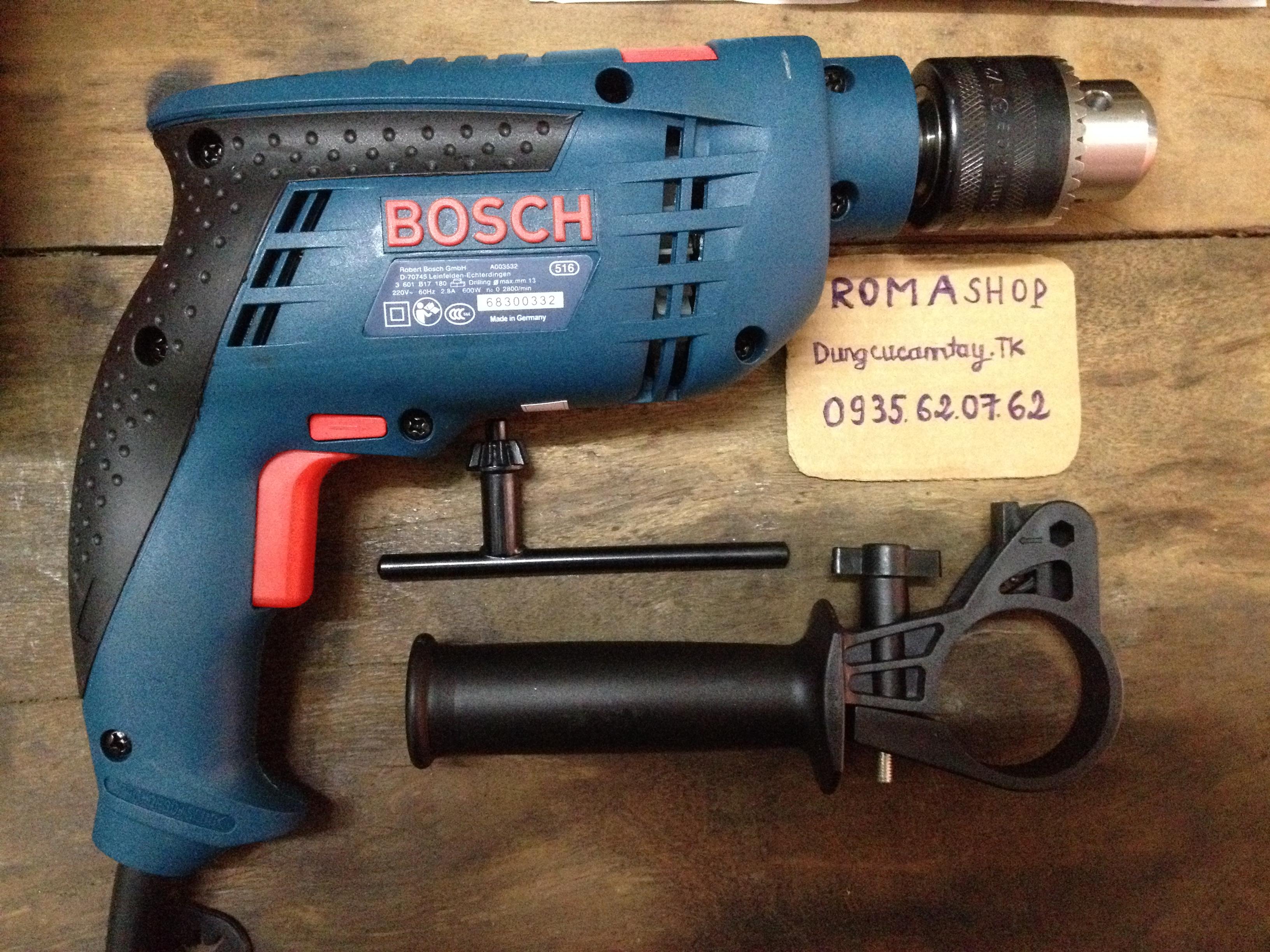 Máy khoan Bosch cầm tay 13ly 2 chức năng(khoan tường,gỗ,sắt,bắt vít,...)