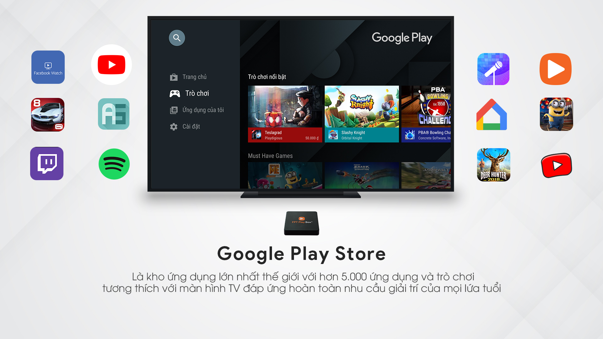 Google Play Store trên box fPT Play + 4k