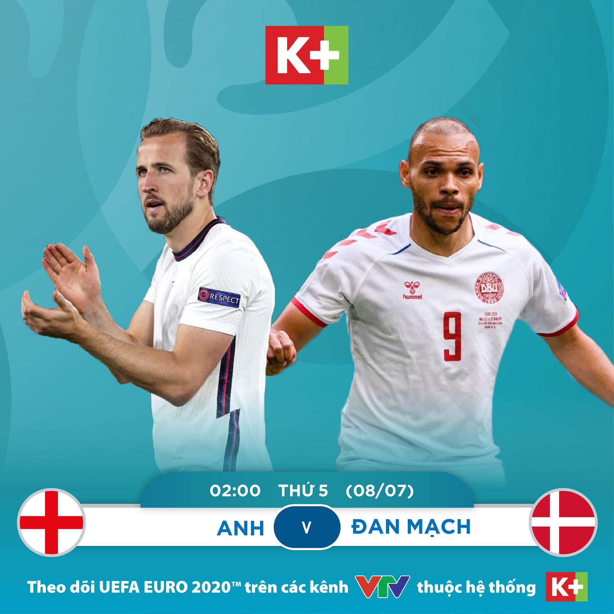 Trực tiếp EURO 2021 Anh vs Đan Mạch: Tam sư thể hiện bản lĩnh?