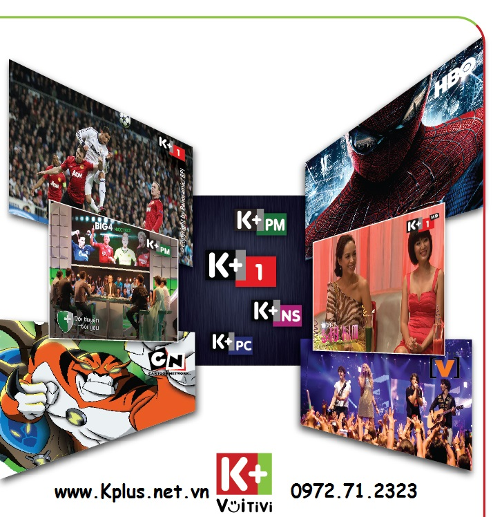 lắp đặt K+ vệ tinh hay đăng ký gói 4 kênh K+ trên truyền hình FPT