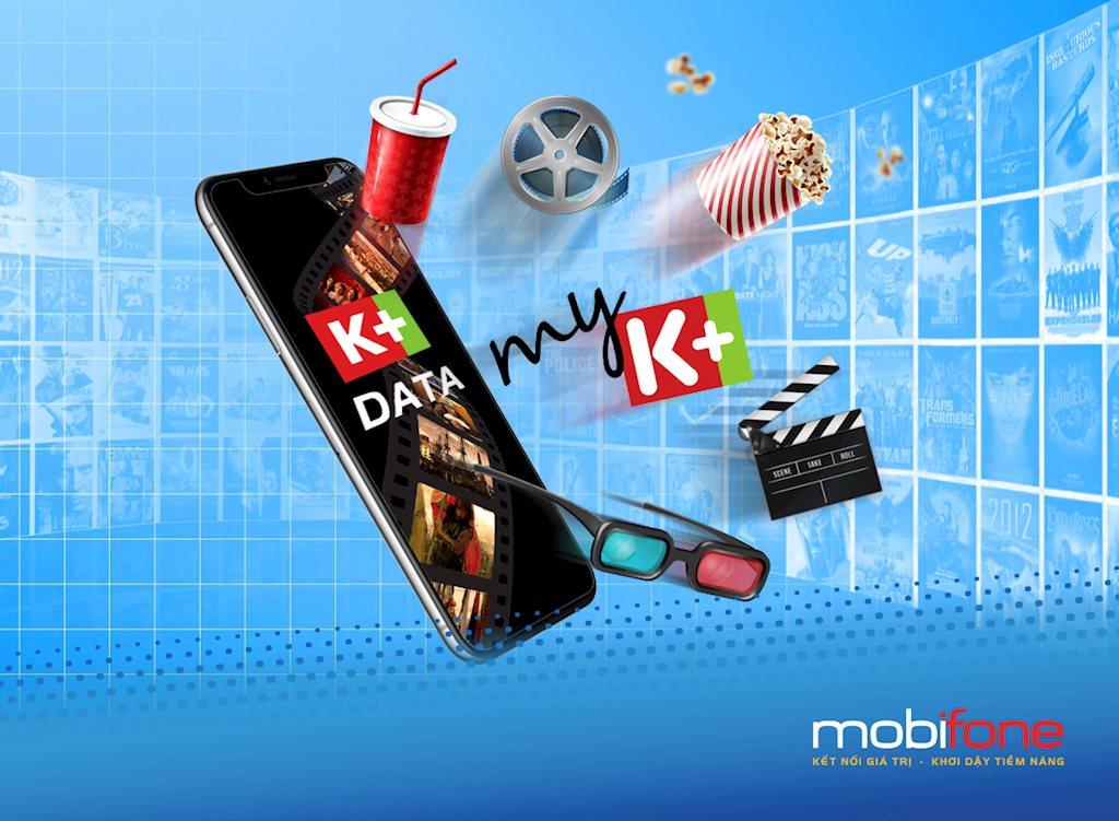 Giải trí cùng K+ Data của MobiFone thỏa sức xem phim, video Clip