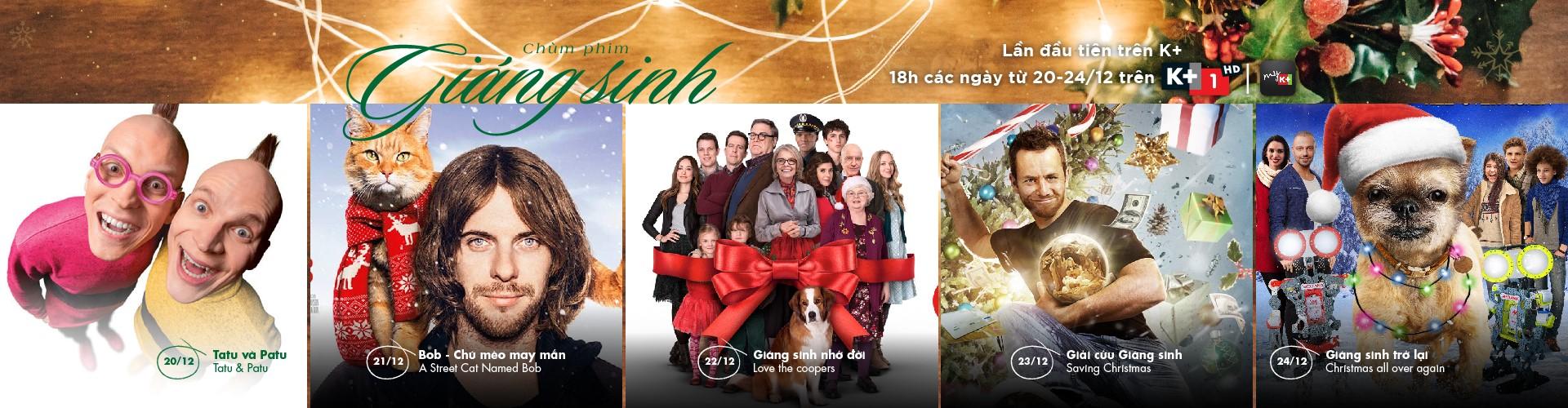 Xem gì trên truyền hình K+ mùa Giáng Sinh 2018 ?