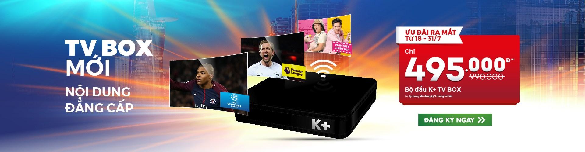 k+ tv box. thiết bị xem k+ qua internet wifi