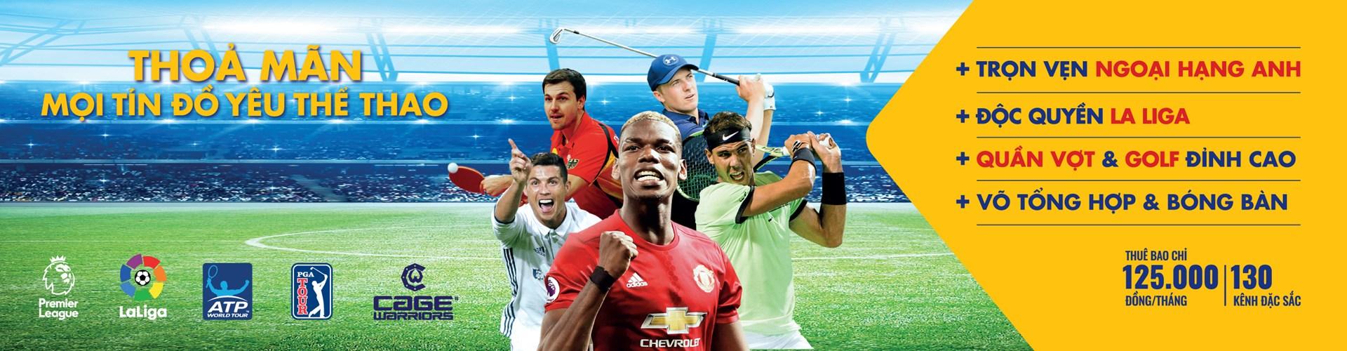 Lắp đặt K+ tháng 10 trọn niềm vui cùng mùa giải bóng đá mới
