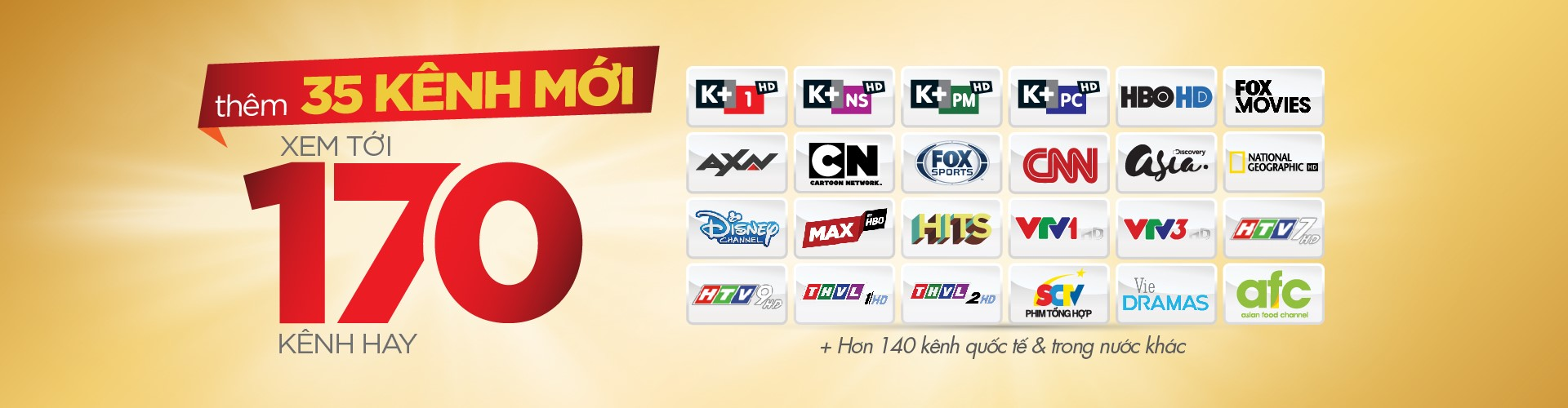 Khuyến mãi lắp đặt K+ tại Hà Nội, TP.HCM trong tháng 4