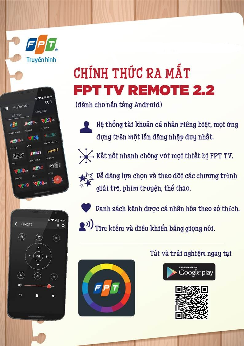 fpt remote TV