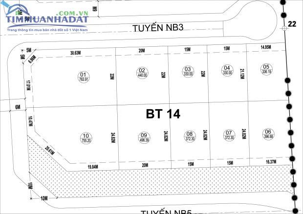 Biệt thự đơn lập Phú Lương BT14, BT15 khu cây xanh 6m trước nhà