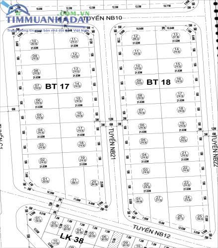 BT17, BT18 Biệt thự Phú Lương vị trí đẹp mặt đường to 30m