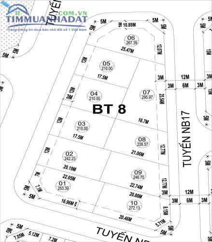 Biệt thự BT8 đối diện Trung tâm thương mại (TTTM) và cây xanh