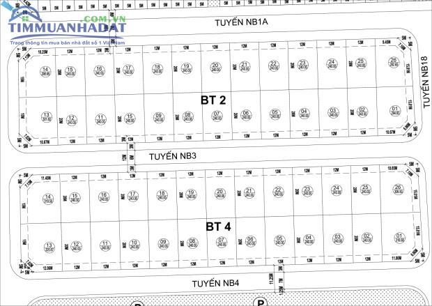 Thông tin về khu biệt thự BT1, BT2 Dự án KĐTM Phú Lương