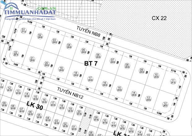 BT7 nhà biệt thự Phú Lương nhìn TTTM vị trí không thể đẹp hơn