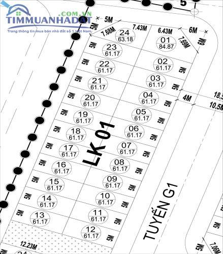 LK1, LK2 Liền kề Khu đô thị Phú Lương sát khu đất dịch vụ