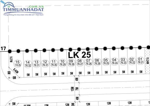 Thông tin về LK25, LK26 liền kề Dự án Phú Lương, Hà Đông