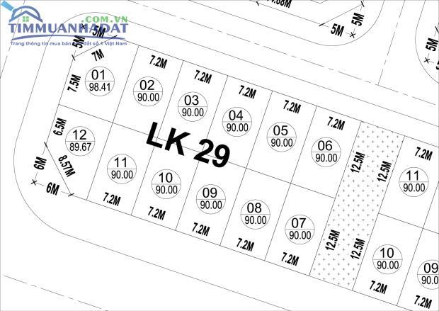 Đất nền Dự án Phú Lương LK29, LK30, LK31 đường rộng 30m đủ hướng đẹp