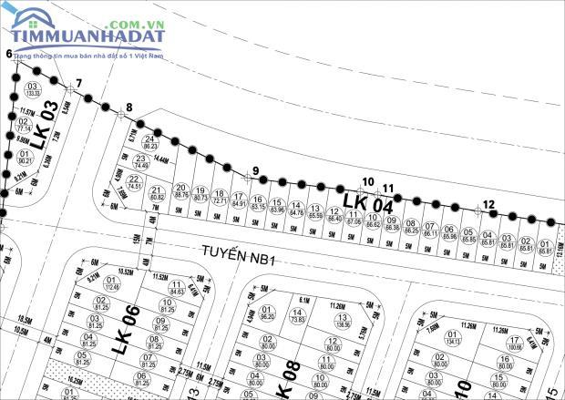 Liền kề LK03 Dự án Khu đô thị mới Phú Lương chỉ 03 ô đất duy nhất