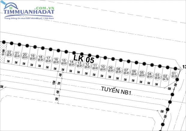 LK4, LK5 liền kề Phú Lương, Hà Đông hướng Nam đường 15m