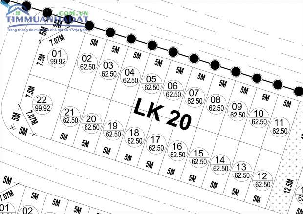 Liền kề LK20, LK40 KĐTM Phú Lương vị trí đẹp trung tâm dự án