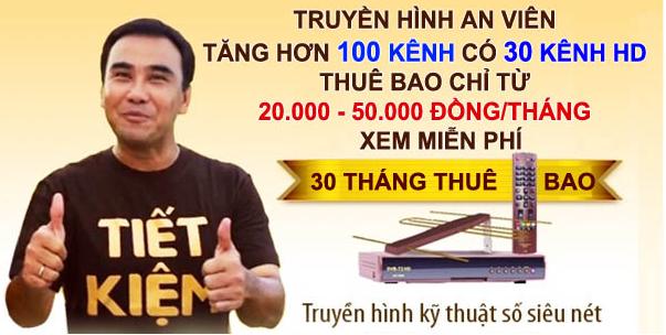 Khuyến mại lắp truyền hình An Viên tại Đắk Lắk