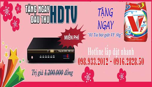 Tặng đầu thu HD và tháng cước thuê bao khi lắp cáp Hà Nội trong T9/2015