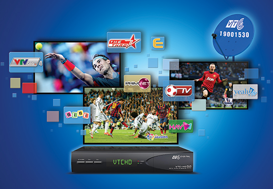 Truyền hình số vệ tinh VTC thêm nhiều kênh VTV Cab đặc sắc