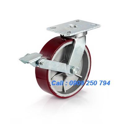 Bánh xe đẩy có khóa, bánh xe PU tải trọng cao