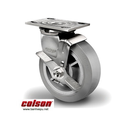 Bánh xe công nghiệp cao su càng inox Colson www.banhxedayhang.net