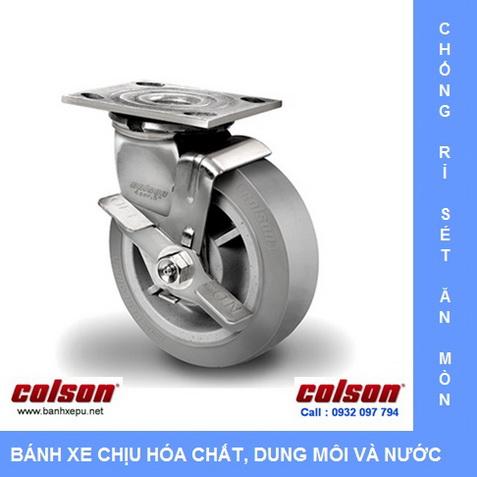 Bánh xe công nghiệp càng inox Colson xoay www.banhxedayhang.net