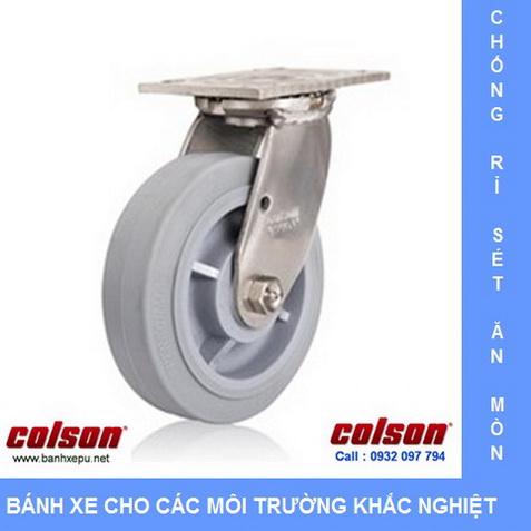 Bánh xe công nghiệp càng inox Colson www.banhxedayhang.net