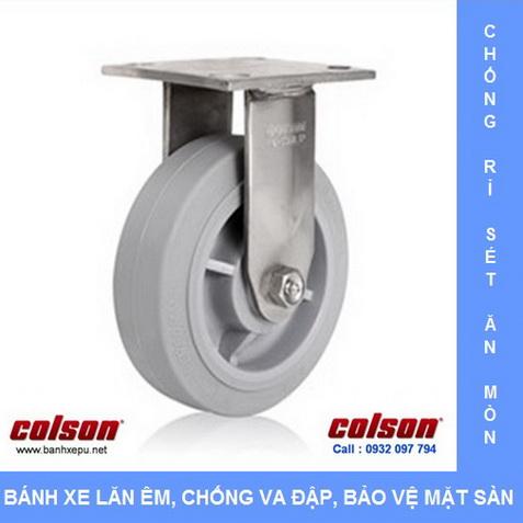 Bánh xe cao su càng inox có định chịu tải Colson www.banhxedayhang.net