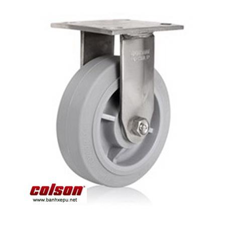 BÁnh xe đẩy hàng cao su càng inox chịu tải nặng Colson www.banhxedayhang.net