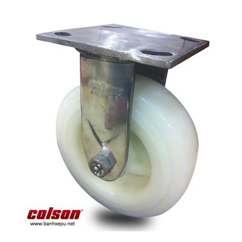 BÁnh xe công nghiệp nhựa Nylon càng inox chọi tải Colson www.banhxedayhang.net