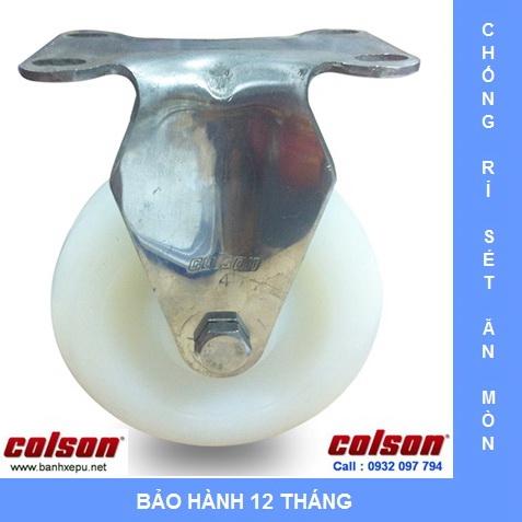 Bánh xe đẩy hàng nhựa Nylon càng inox Colson www.banhxedayhang.net