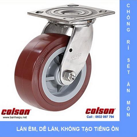 Bánh xe xoay càng inox 304 Colson www.banhxedayhang.net