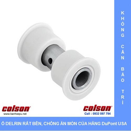 Ổ nhựa Delrin dùng cho bánh xe inox Colson www.banhxepu.net