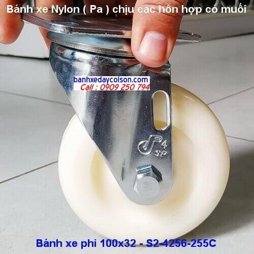 Bánh xe nhựa nylon 100 di động