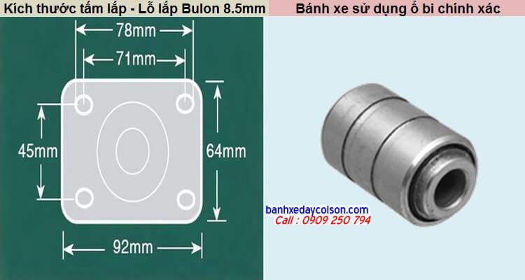 Kích thước tấm lắp SP2 banhxedaycolson.com