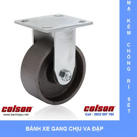 Bánh xe gang chịu tải nặng Colson www.banhxedaycolson.com