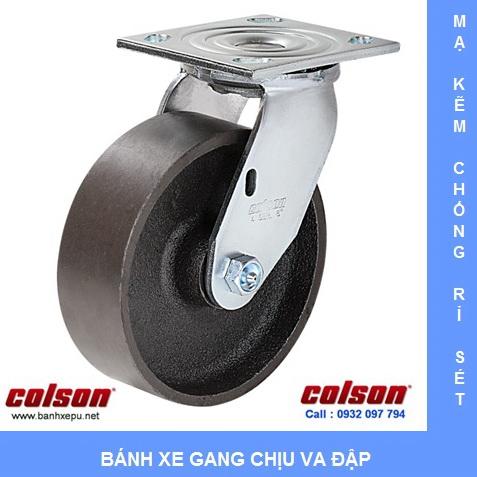 Bánh xe gang xoay chịu lực nặng Colson www.banhxedaycolson.com