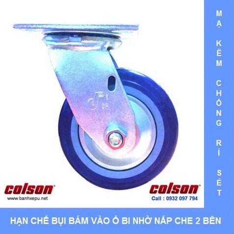 Bánh xe PU có nắp che bụi trong ngành vải sợi Colson www.banhxedaycolson.com