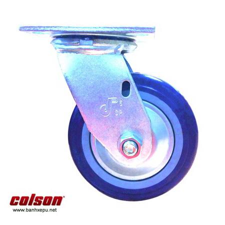 Bánh xe Pu có nắp che bụi cho xe đẩy dệt may Colson www.banhxedaycolson.com