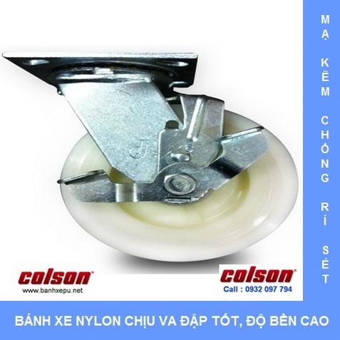 Bánh xe nhựa Nylon dùng cho xe đẩy thủy hải sản Colson www.banhxedaycolson.com