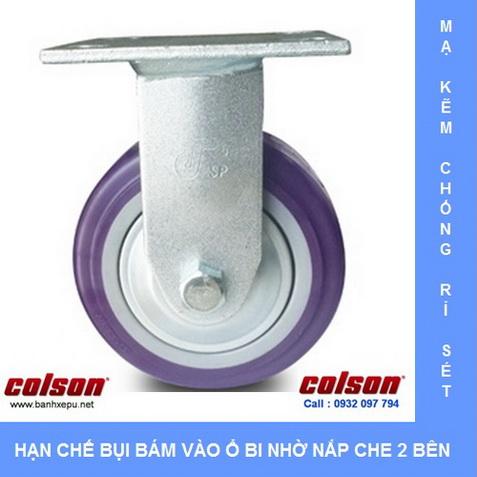 Bánh xe nhữa PU có nắp che bụi Colson www.banhxedaycolson.com