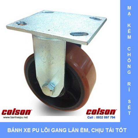 Bánh xe PU lõi gang phi 100 125 150 200 Colson www.banhxedaycolson.com
