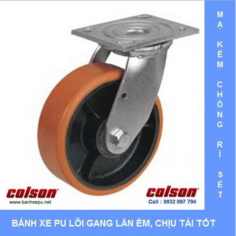 Bánh xe PU lõi thép chịu tải nặng Colson www.banhxedaycolson.com