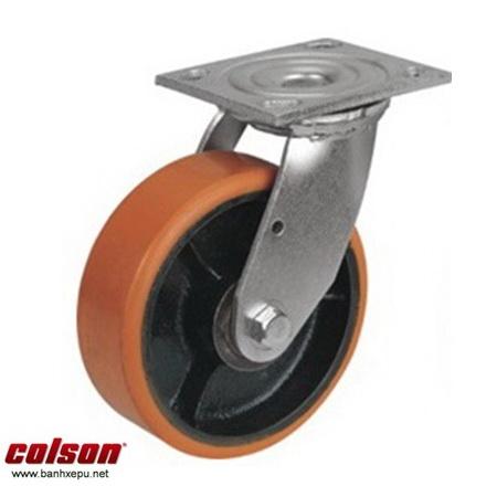 Bánh xe PU lõi gang lắp mặt bích Colson www.banhxedaycolson.com