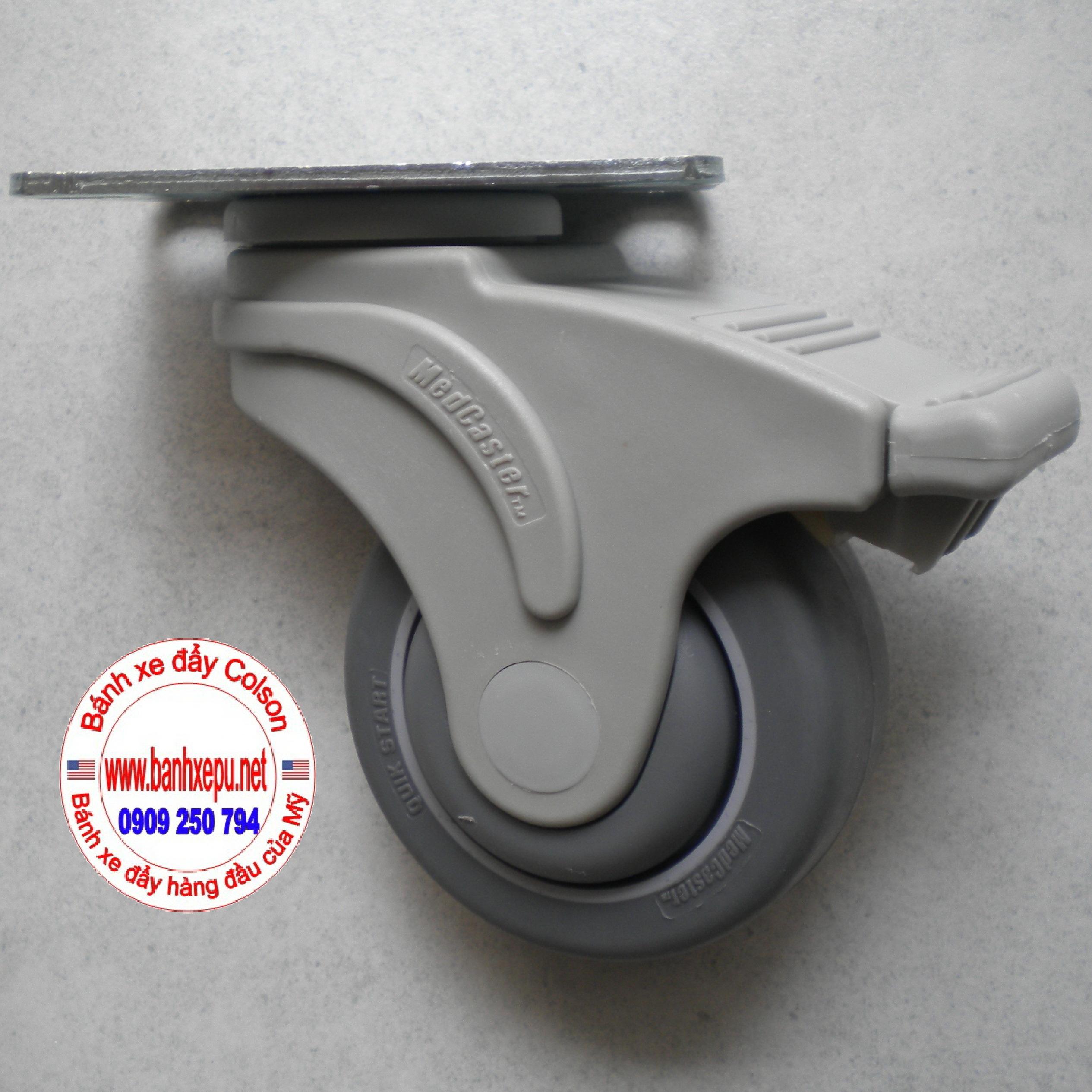 Bánh xe cao su Perfoma Colson dùng cho xe đẩy thuốc y tế bệnh viện