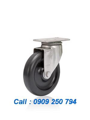 Bánh xe đẩy inox 304 chịu nhiệt độ cao tải 136kg/bánh