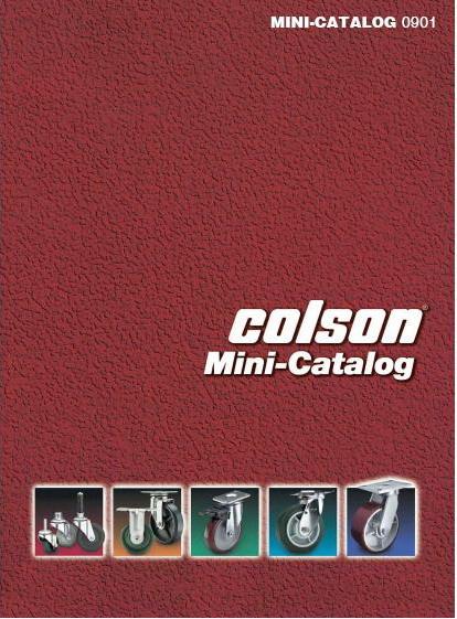 Catalog bánh xe đẩy Colson tải 600kg - 20,25kg/bánh