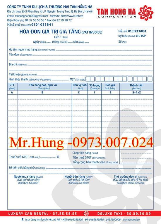 Dịch vụ bán hóa đơn đỏ